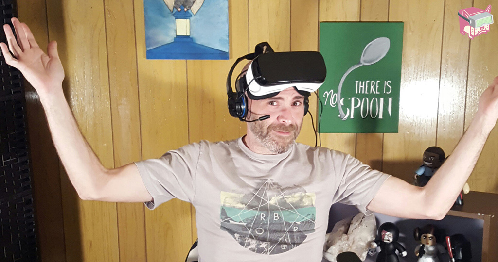 In the Colon VR Review - On Set Photo