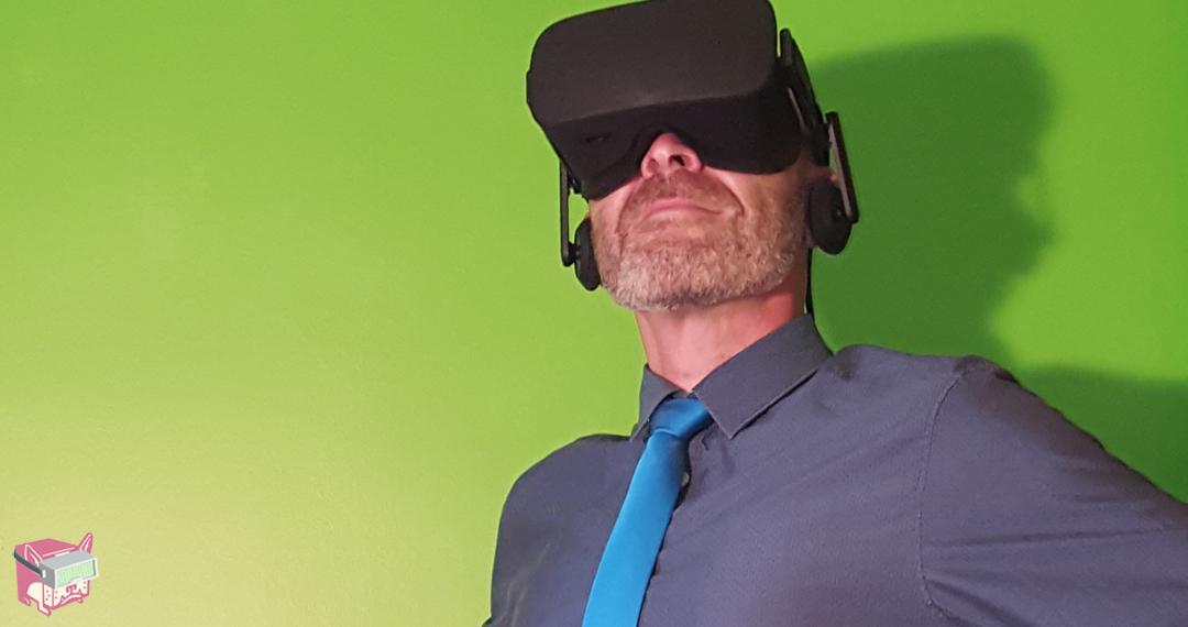 Darrell Wearing Oculus Rift Headset - FalseDogs
